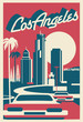 Los Angeles skyline postcard - 254993454