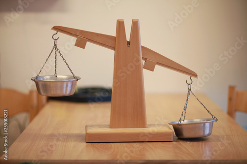 Balance scale material in a classroom - 255018221