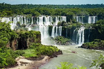 The Amazing waterfalls of Iguazu in Brazil © kbarzycki