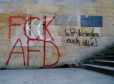 Graffiti an Betonwand