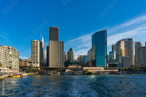 Sydney CBD cityscape with skyscrapers, view from Circular Quay - 255027844