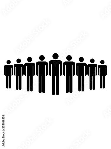 figur muster reihe schlange anstehen warten freunde team crew party viele pictogram mann männlich stehend neutral zeichen symbol mensch silhouette logo design