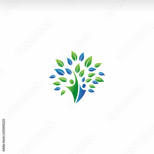 healthy life, psychologist, human logo vector