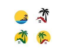 "Постер, картина, фотообои ""home resort logo vector illustration"""