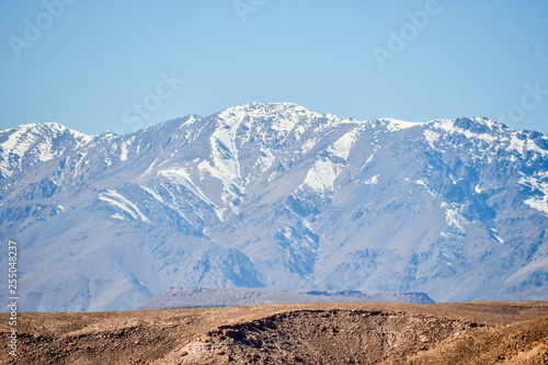 mountains in winter, photo as background