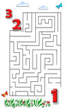 Funny maze game for Preschool Children. Illustration of logical education for children of preschool age. - 255068636