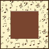 Creative concept background of musical notes and symbols with a blank for your text. - 255069071