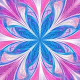 Beautiful multicolored fractal flower. Collection - frosty pattern. You can use it for invitations, notebook covers, phone case, postcards, cards, wallpapers. Artwork for creative design, art. - 255073833