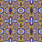 Multicolor Seamless abstract festive vivid pattern. Tiled ethnic pattern. Geometric mosaic. Great for tapestry, carpet, blanket, bedspread, fabric, ceramic tiles, stained glass window, wallpapers - 255074831