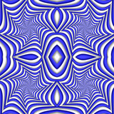 Seamless abstract festive pattern, blue and white. Tiled ethnic pattern. Geometric mosaic. Great for tapestry, carpet, blanket, bedspread, fabric, ceramic tiles, stained glass window, wallpapers - 255075477