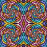 Multicolor Seamless abstract festive pastel pattern. Tiled ethnic pattern. Geometric mosaic. Great for tapestry, carpet, blanket, bedspread, fabric, ceramic tiles, stained glass window, wallpapers - 255078662