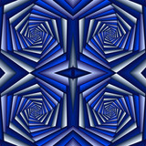 Swirl abstract pattern, blue and white. Tiled ethnic pattern. Geometric mosaic. Great for tapestry, carpet, blanket, bedspread, fabric, ceramic tiles, stained glass window, wallpapers - 255079400