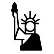 Statue of liberty Solid illustration