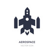 aerospace icon on white background. Simple element illustration from Astronomy concept.