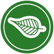 natural leaf circular icon