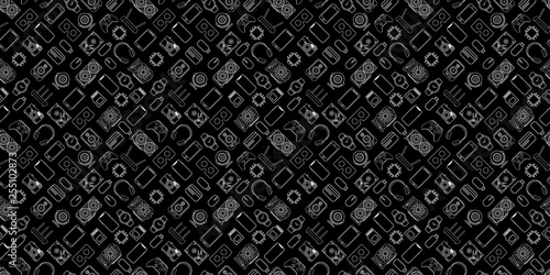 Gadgets and devices seamless pattern - 255102873