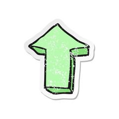 retro distressed sticker of a cartoon arrow