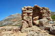 stone ruins in the mountains on the island of Crete...