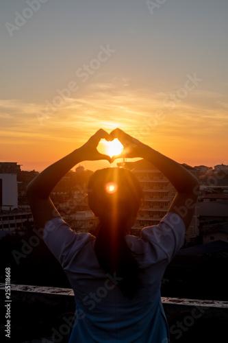 sunset on my heart