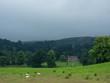 Leinwanddruck Bild - Landschaft in den schottischen Highlands bei Nebel