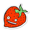sticker of a cartoon strawberry - 255124205