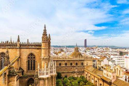 Panorama depuis la Cathédrale de Séville en Andalousie, Espagne