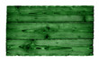 green wooden board isolated - 255135007