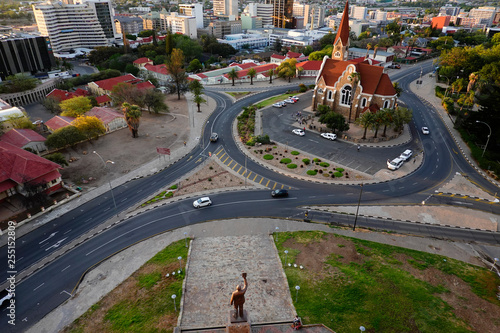 Windhoek, Namibia The Christ Church at sunset.