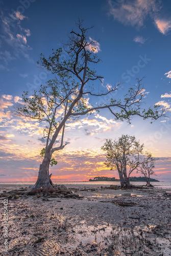 Panorama sunset of wonderful batam bintan Indonesia