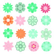 Beautiful flowers pack vector design illustration isolated on white background - 255154613