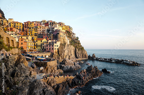 Manarola Village, Cinque Terre Coast of Italy. Manarola is a beautiful small town in the province of La Spezia, Liguria, north of Italy and one of the five Cinque terre travel attractions to tourists
