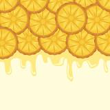 pattern of fresh pineapples sliced fruit