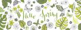 Spring illustrations banner