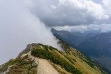 Ridge trail in the Western Tatra mountains.
