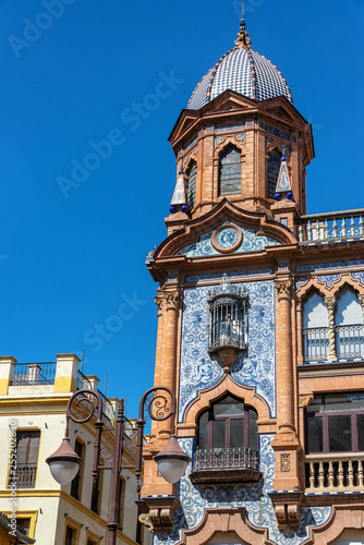 Ornate Building in Seville, Spain