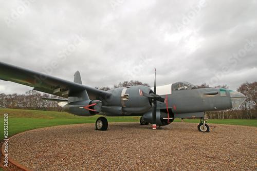 obraz PCV Vintage military airplane
