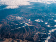 aerial view of mountains and sea - 255214694