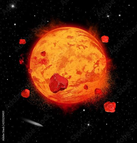 Lava Planet Exploding © alison1414