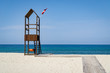 Rettungsturm auf Sandstrand