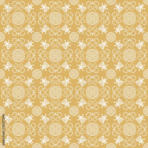 Chinese Japanese seamless pattern © PETR BABKIN