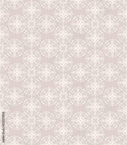 old-fashioned wallpaper seamless pattern - 255273056