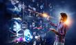 Virtual technologies as concept. Mixed media