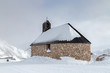 canvas print picture - Kirche Maria Heimsuchung auf dem Gipfel der Zugspitze im Winter