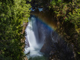 Rainbow and waterfalls