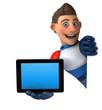 Leinwanddruck Bild - Super modern superhero - 3D Illustration