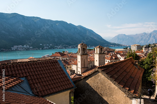 mata magnetyczna The old town-citadel of Kotor. Mediterranean style medieval architecture and landmarks, Montenegro.
