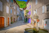 Village de Montpezat-sous-Bauzon, Ardèche - France