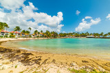 Bas du Fort beach in Guadeloupe on a sunny day