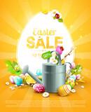 Modern Easter sale flyer
