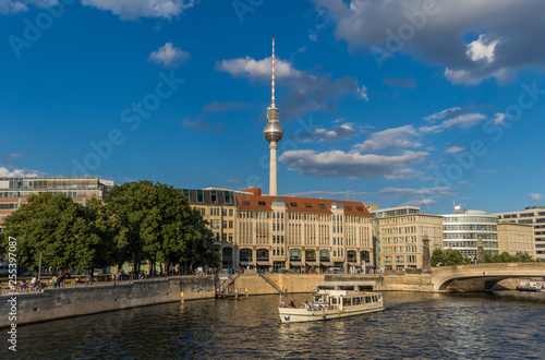 Berlin, Germany - the Spree river is the main river in Berlin, and it's used by many companies to organize cruises and sightseen tours of the Old Town  © SirioCarnevalino